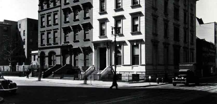 Berenice Abbott. Fifth Avenue Houses, Nos.4, 6, 8, 1936