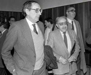 Emilio Alarcos y Miguel Delibes