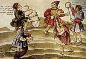 moriscos danzando al son de laudes