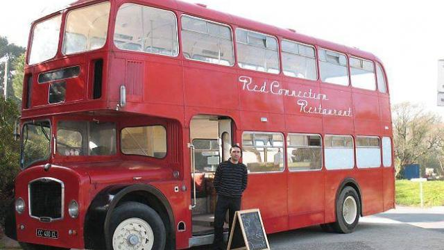 Food truck mariage bus anglais