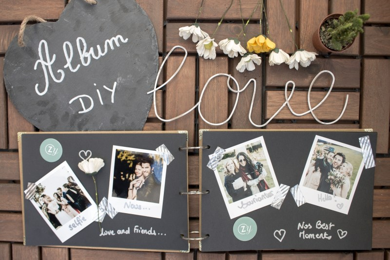 créer une album de mariage avec la wedding box Cheerz x ZankYou