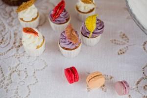 Cupcakes avec des plumes