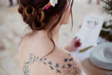 Envolée d'oiseaux tatouage