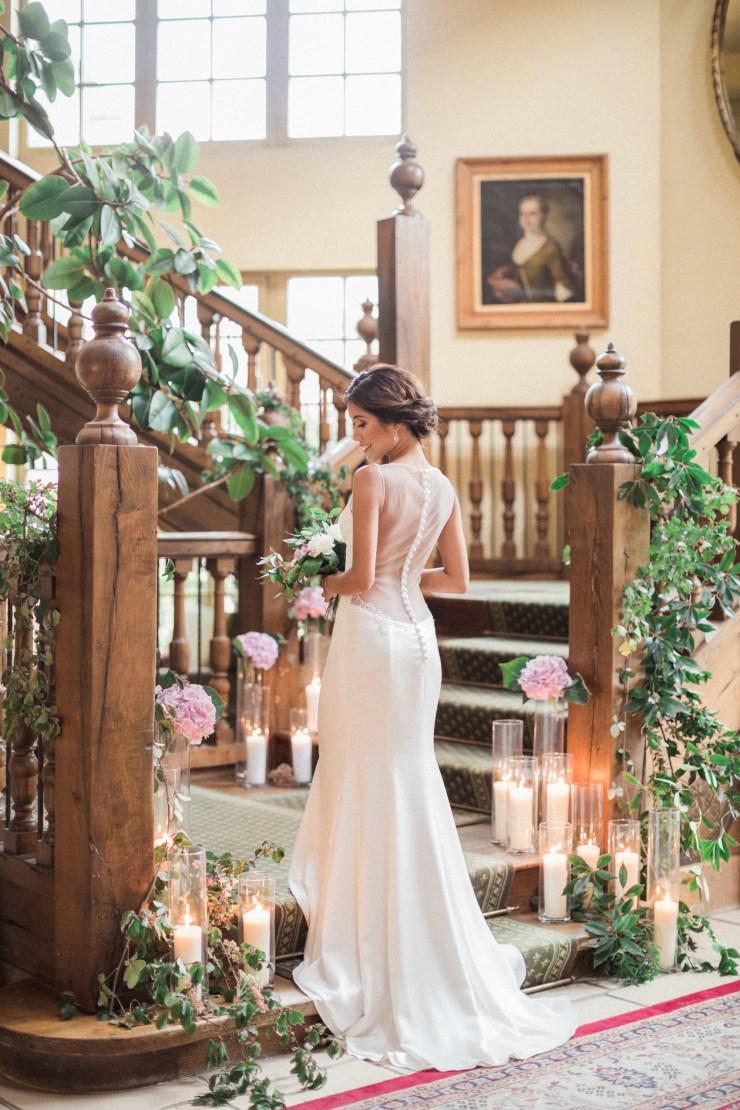 Robe de mariée dos nu voilé