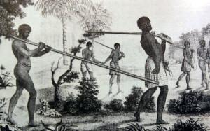 Negros esclavos. Grabado de Voyage à la Côte Occidentale d'Afrique, de Louis Degrandpré
