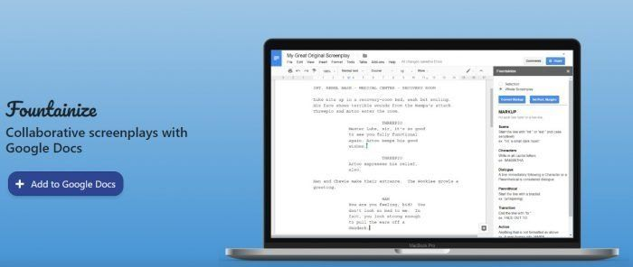 Escribir guiones con Google Docs