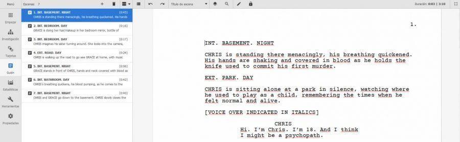 Escribe guiones con Kit Scenarist, La solución elegante