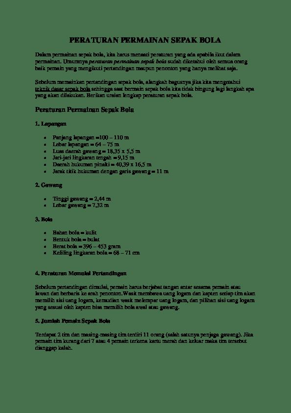 Aturan Sepak Bola : aturan, sepak, Peraturan, Permainan, Sepak, Lasopaneuro