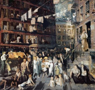 George Bellows, cliffwellers.