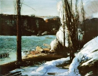 George Bellows, les falaises.