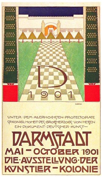 Manifesto dell'esposizione del 1901.