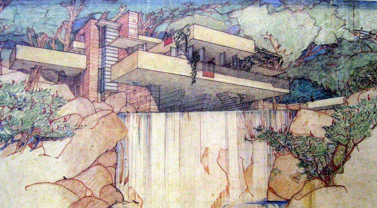 In equilibrio tra emozione e tecnica la Casa sulla Cascata di Wright  La sottile linea dombra