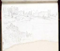 J. M. W. Turner, vista della città e Arco trionfale in Piazza Cavour, Firenze