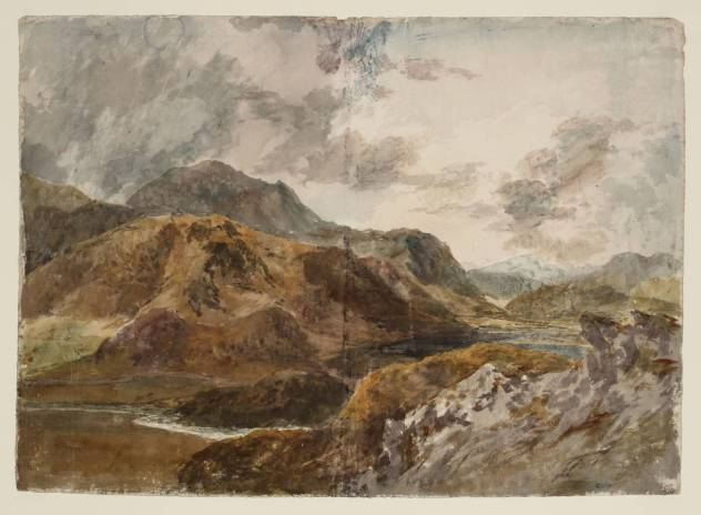 J. M. W. Turner, Snowdon and Dinas Emrys from above Beddgelert.