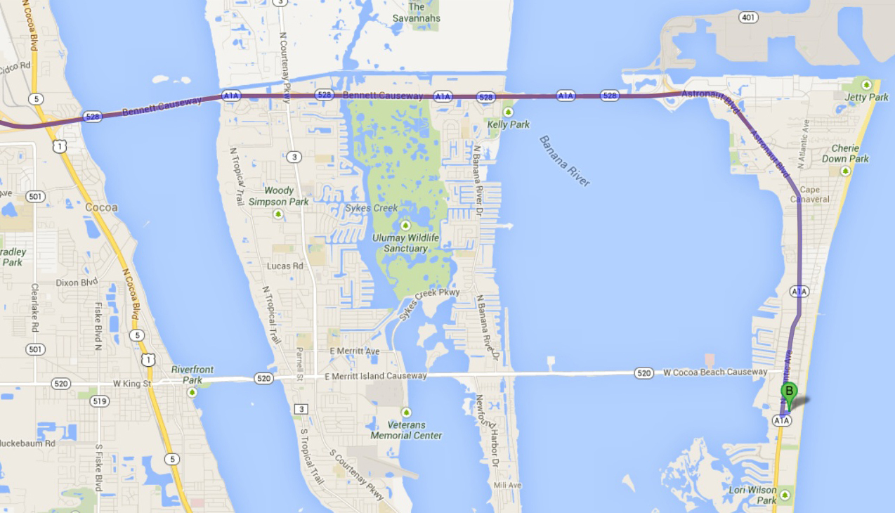 Coco Beach Florida Map.How Far Orlando Florida Map Cocoa Beach Florida