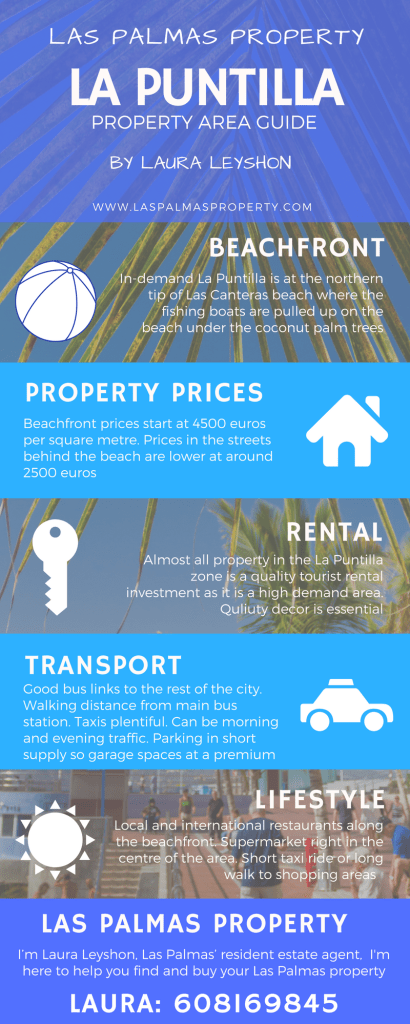 La Puntilla property area guide infographic by Laura Leyshon