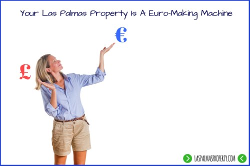 Owning a Las Palmas property generates a rental income in euros