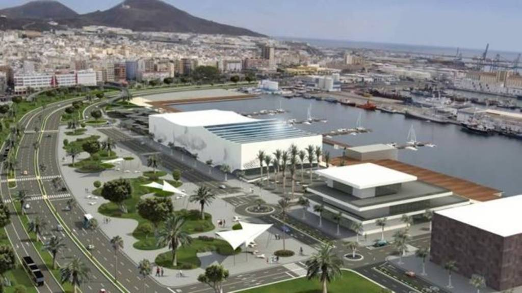 How the waterfront in Las Palmas will look once the project is finished