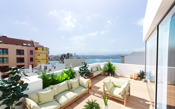 Outside space is one of the main attractions of Las Palmas penthouses