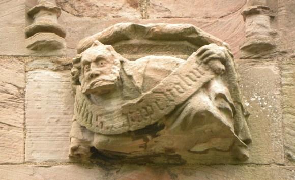 Detalles en la Abadía de Melrose. Arquitectura gótica en Escocia