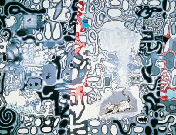 Forma irregular. La nieve es negra, 1987, Luis Gordillo.