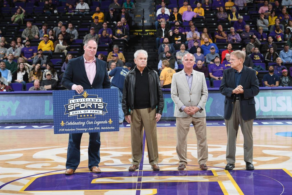 Class of 2018 legends Springer, Simmons, Rollins recognized during LSU basketball game