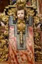 Plinto del retablo con ménsulas y cabezas de querubines