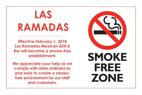 Smoke Free Announcement- Las Ramadas