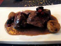 Solomillo de Carne de Caza con castañas y frutos rojos