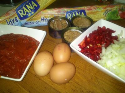 Ingredientes empanada