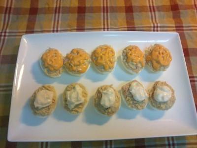 Huevos rellenos con mahonesa