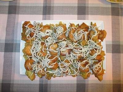Verdura en tempura