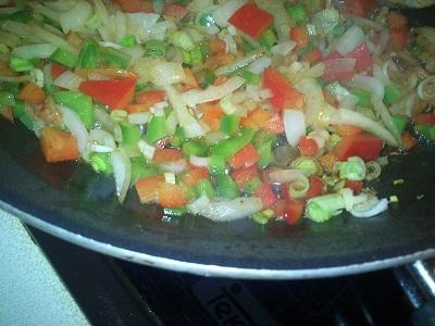 Fajitas de pollo y pimientos