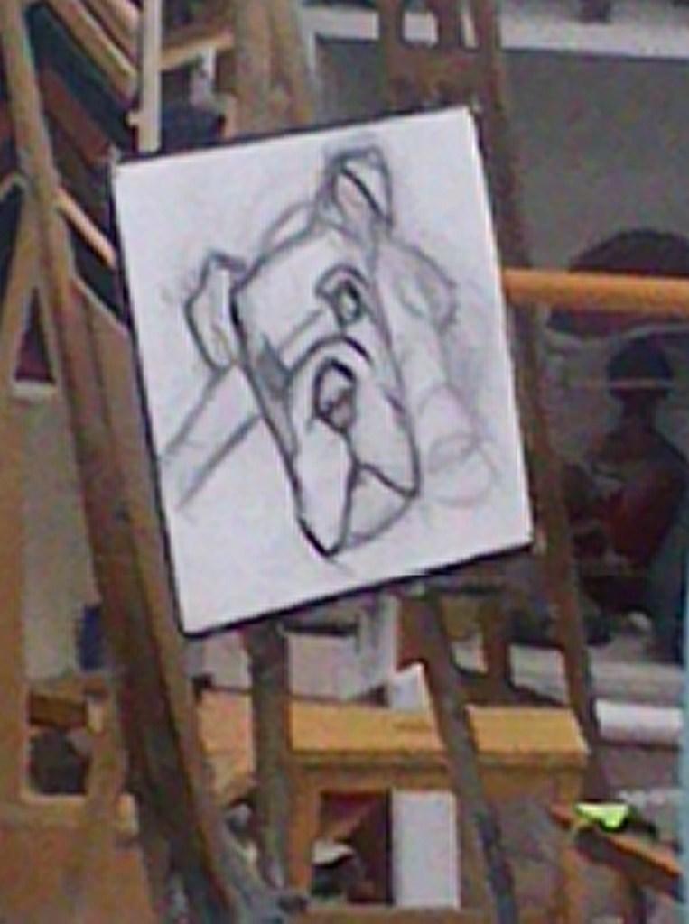 Pintura de Bulldog a pastel