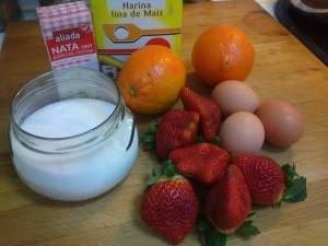 Ingredientes crema de naranja