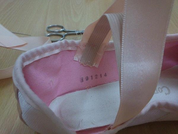 Coser cintas en Puntas ballet (2)