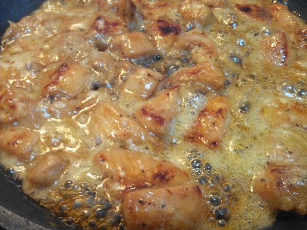 Brochetas de pollo con soja