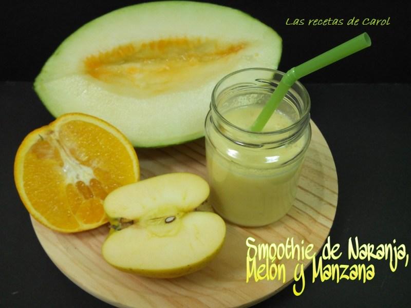 smoothie de naranja melon manzana