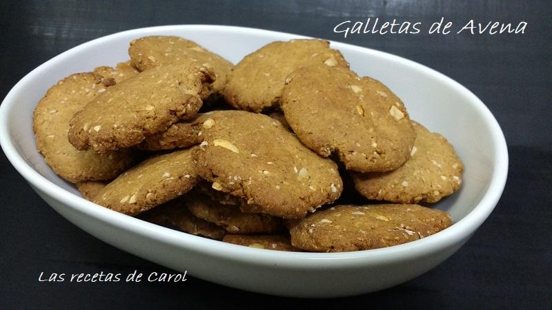 galletas de avena y cacahuetes