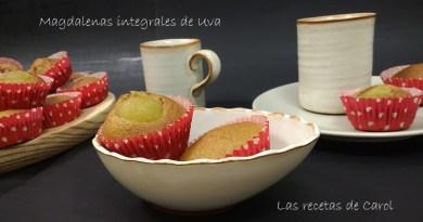 Magdalenas integrales de uva