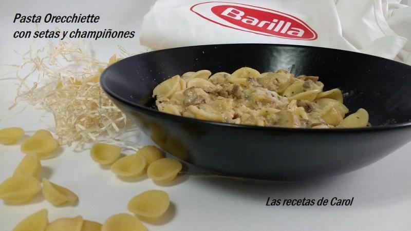 Pasta Orecchiette con setas