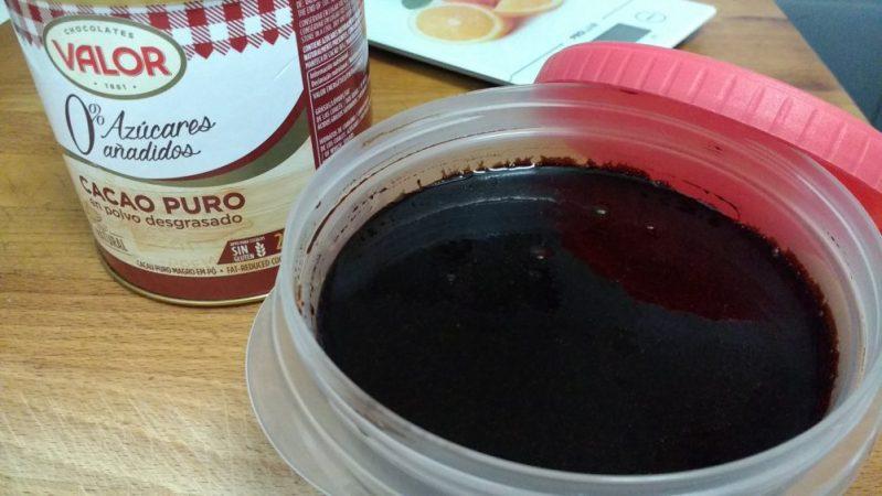 Sirope de chocolate negro