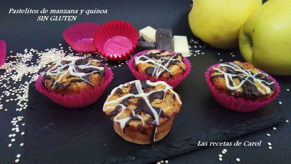 Pastelitos de manzana y quinoa
