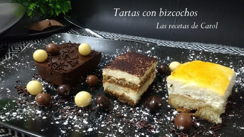 Recetas de tartas con bizcochos