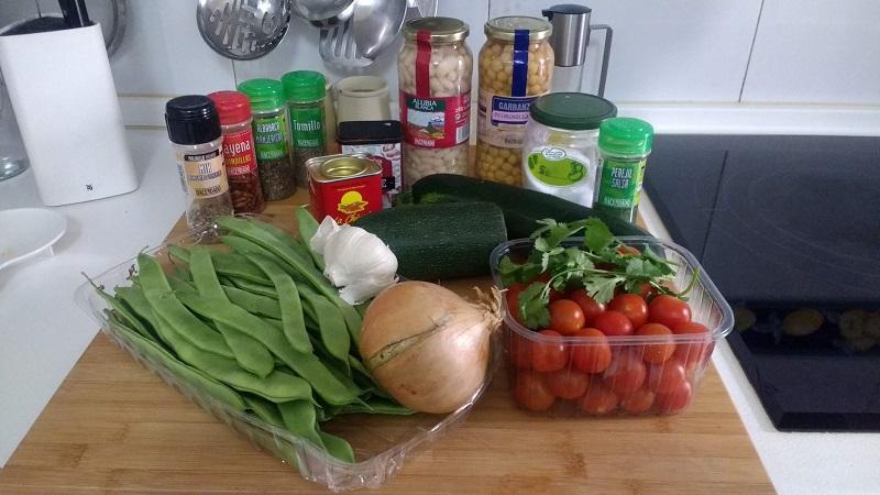 Ensalada de alubias y verduras