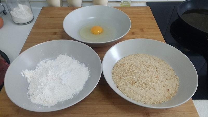 Ingredientes para empanar