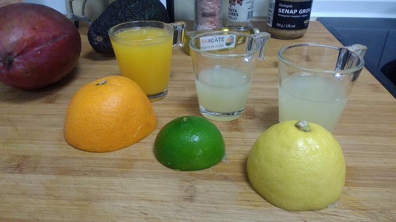 Ensalada de mango aguacate
