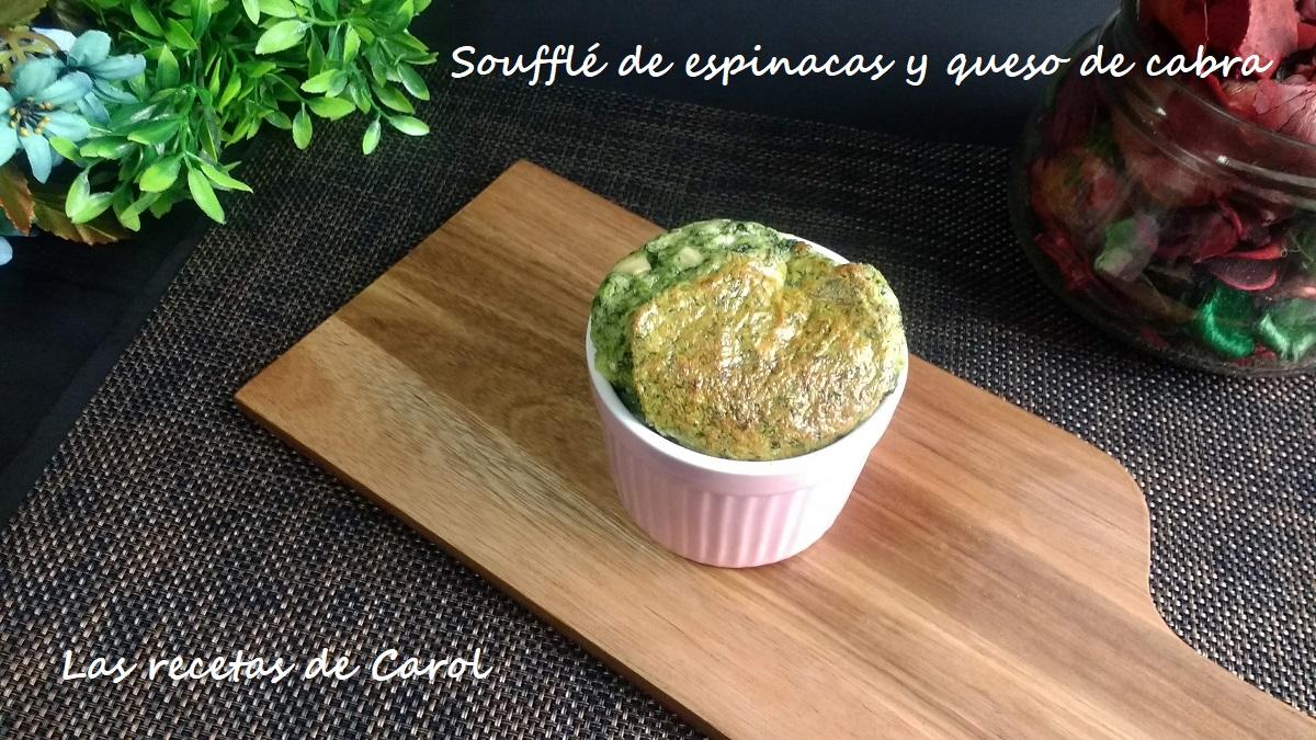 Soufflé de espinacas y queso