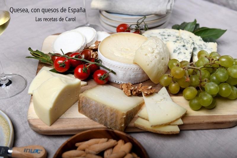 Quesea con quesos de España