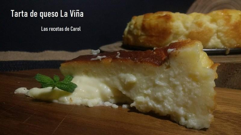 Tarta de queso del restaurante La Viña